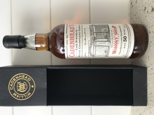Cadenhead 50 year old single cask cognac - distillerie Charpentier